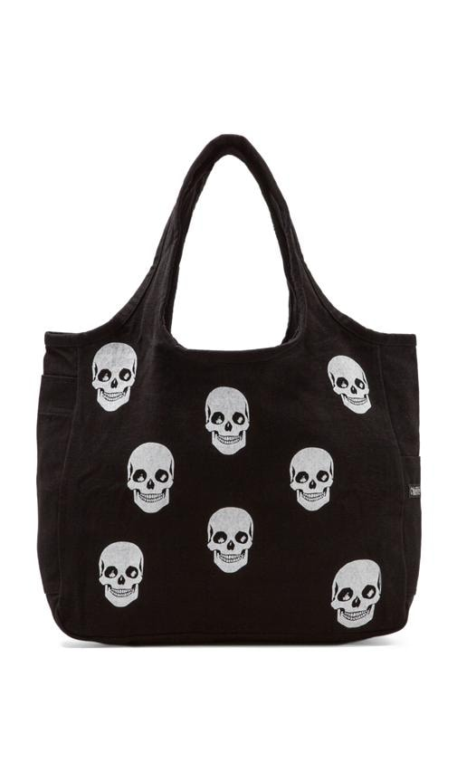 Taylor Mini Skull Face Canvas Tote Bag