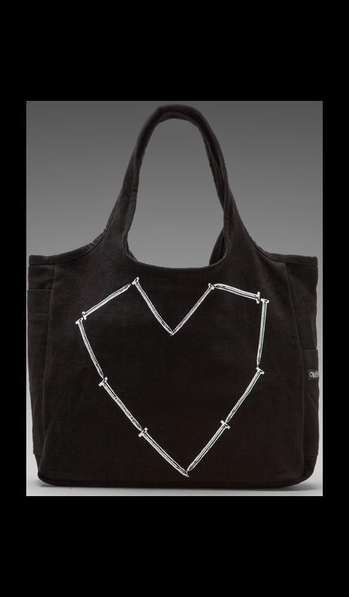 Taylor Nail Heart Canvas Tote Bag