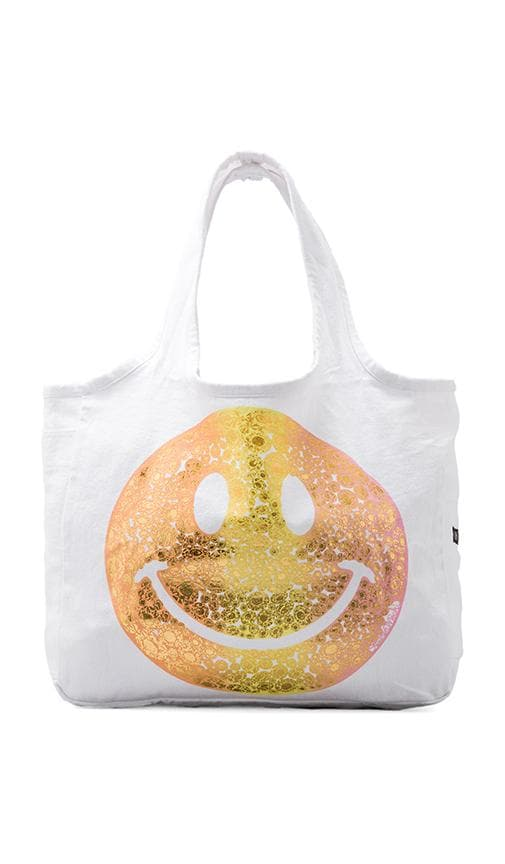 Taylor Foil Diamond Happyface Tote