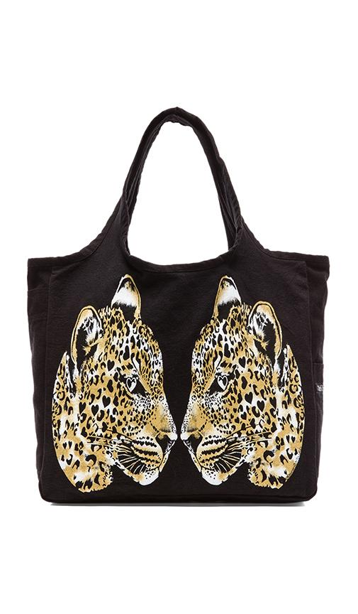 Taylor Color Mirror Leopards Canvas Tote