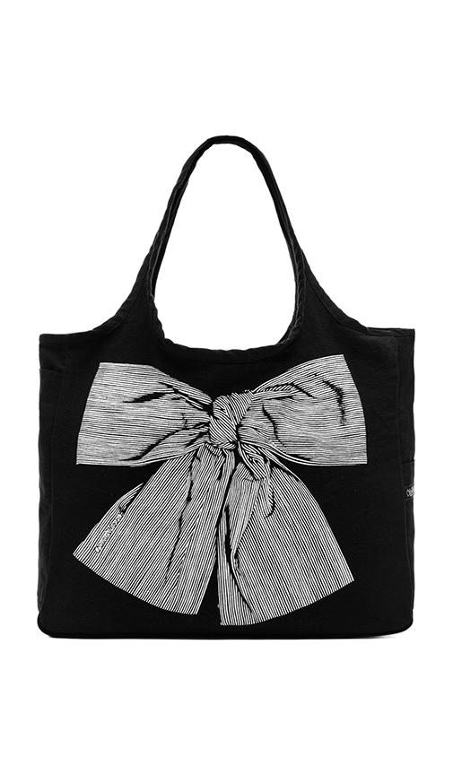 Taylor Stripe Bow Canvas Tote