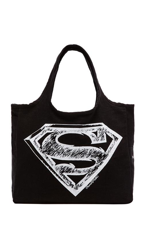 Taylor Superman Canvas Tote