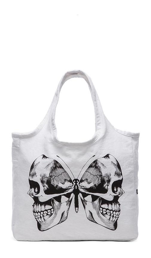 Taylor Skull Butterfly Canvas Tote