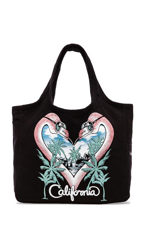 Taylor Flamingo Heart Tote Bag