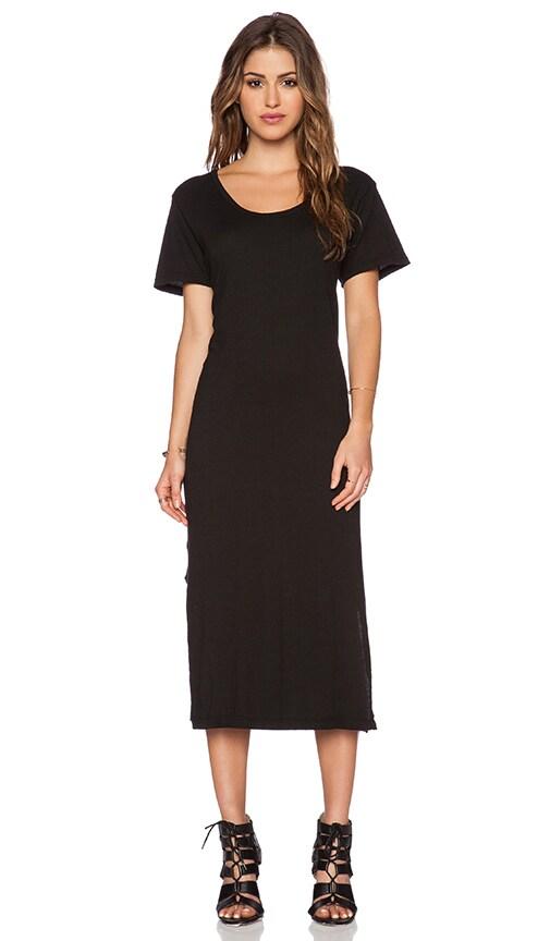 LNA T-Shirt Midi Dress in Black