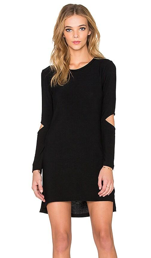 LNA Durango Sweater Dress in Black
