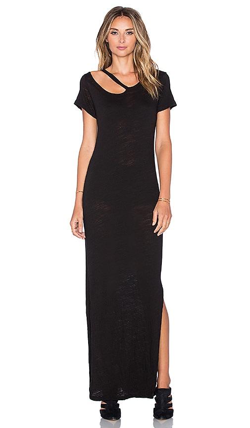 LNA Desert Crew Maxi Dress in Black