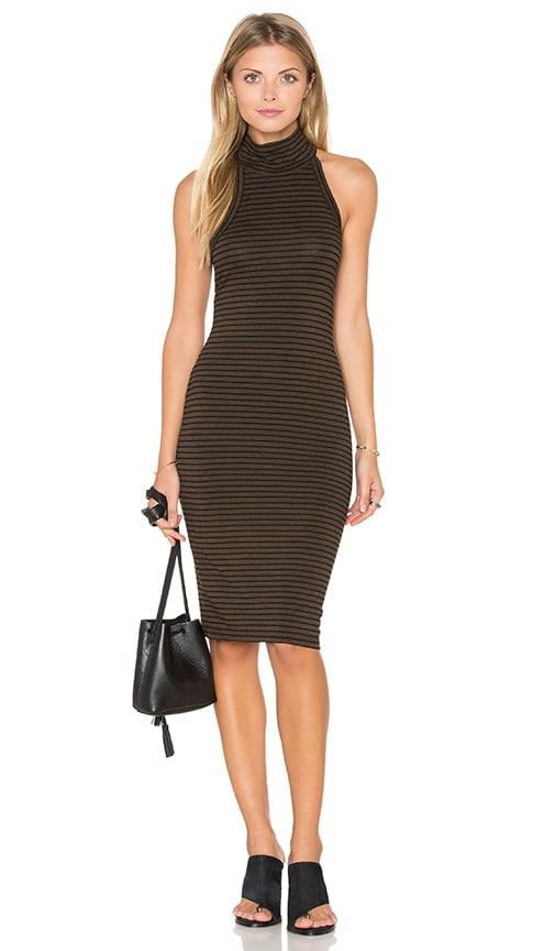 LNA Kyra Dress in Chocolate Stripe