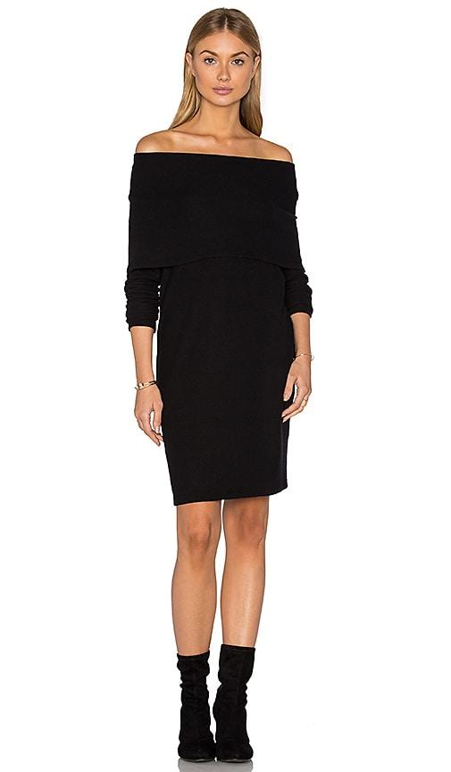 LNA Brenda Scarf Dress in Black