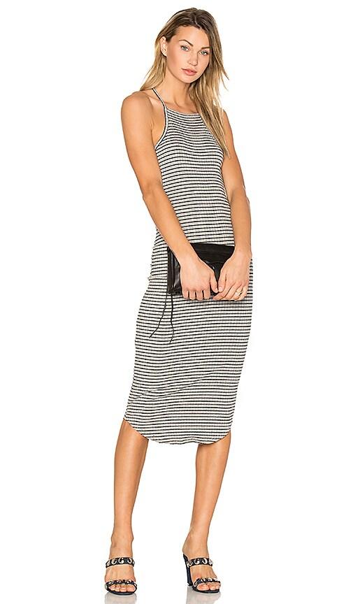 LNA Square Bib Dress in Gray