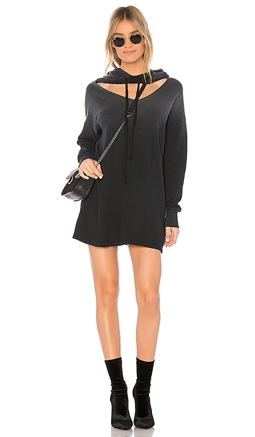 LNA Morris Hoodie Dress in Black