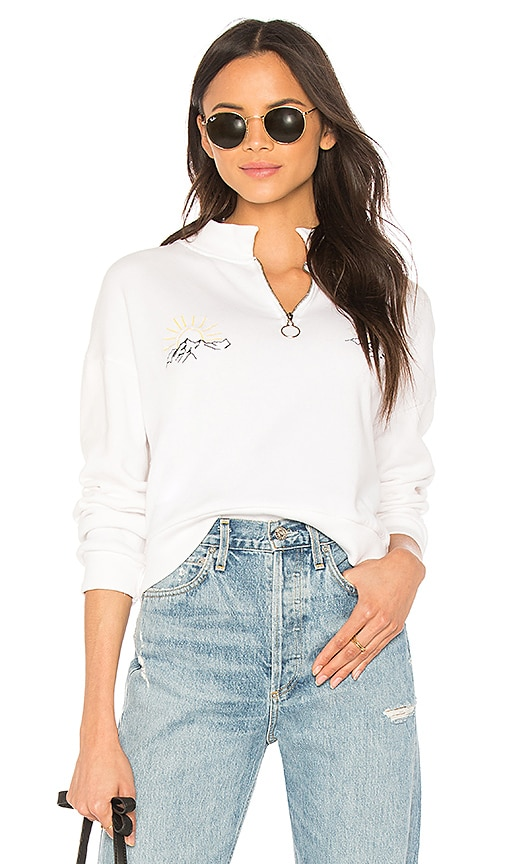 LNA La Mountains Sweatshirt in White