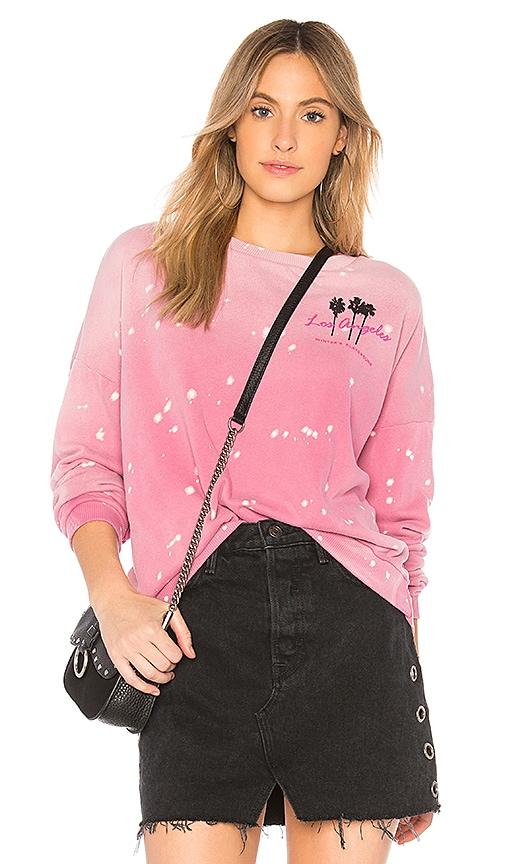 LNA Winters Playground Sweatshirt in Pink