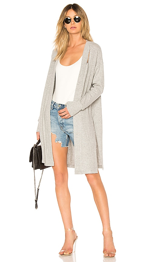 LNA Brushed Fischer Cardigan in Gray