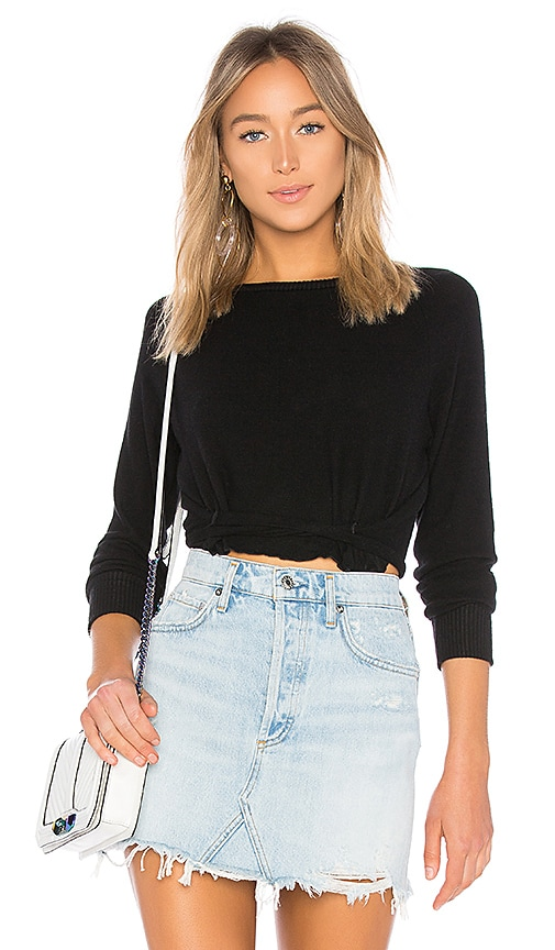 LNA Brushed Roos Sweater in Black