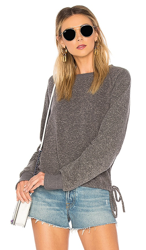 LNA Heathered Cinched Sweatshirt in Gray
