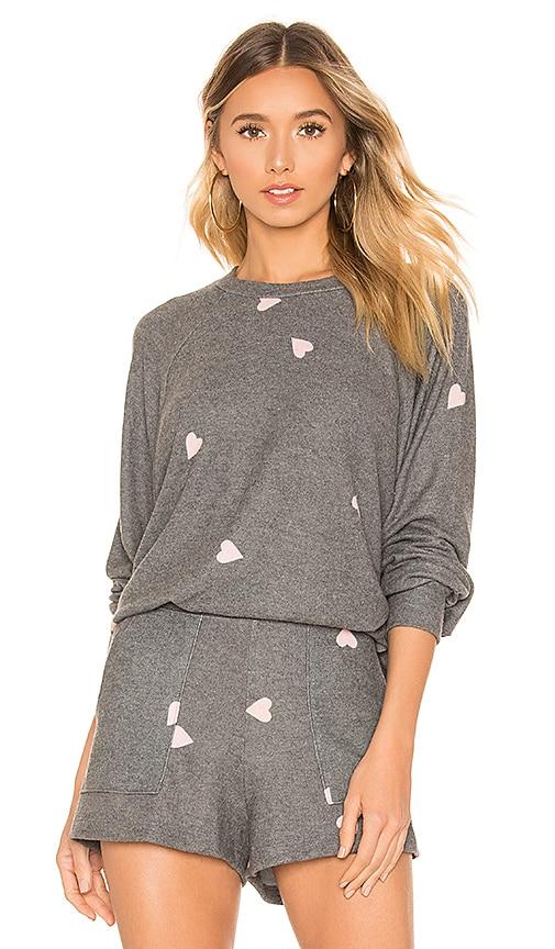 Brushed Hearts Raglan Sweater
