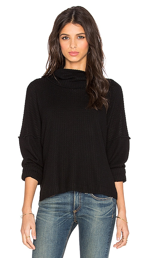 LNA Oversized Turtleneck Sweater in Black