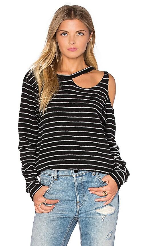 LNA Double Slash Sweater in Black