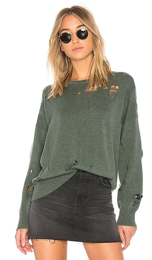 LNA Carlton Distressed Sweater in Green