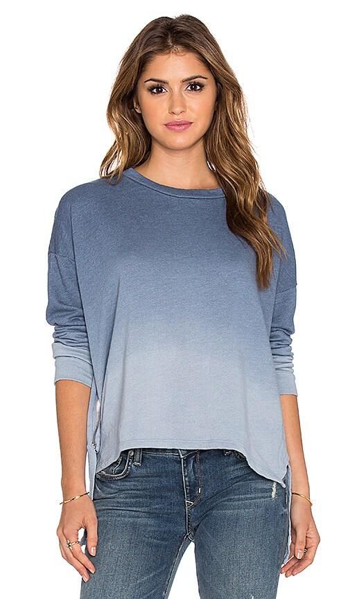 LNA Ombre Backtail Sweatshirt in Blue Ombre Dye