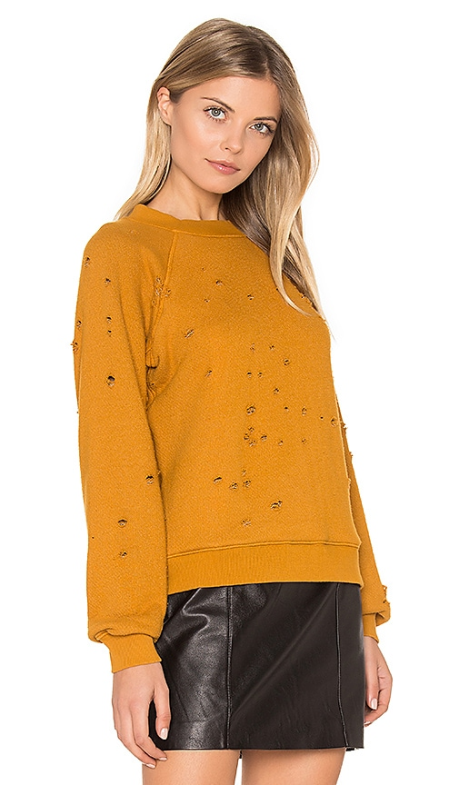LNA Vintage Holy Sweatshirt in Mustard