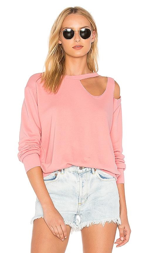 LNA Gator Sweatshirt in Pink