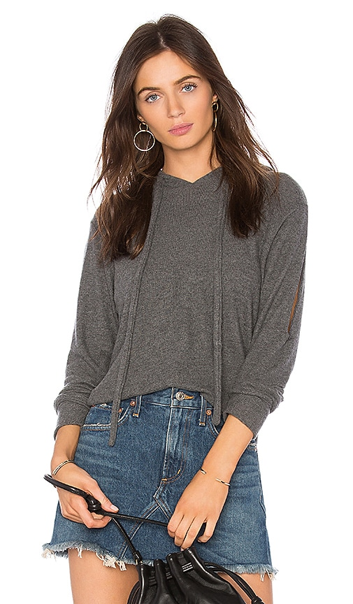 LNA Stormy Brushed Hoodie in Gray