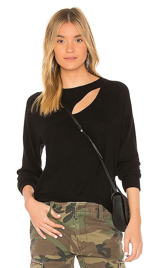 LNA Brushed Phased Sweatshirt in Black