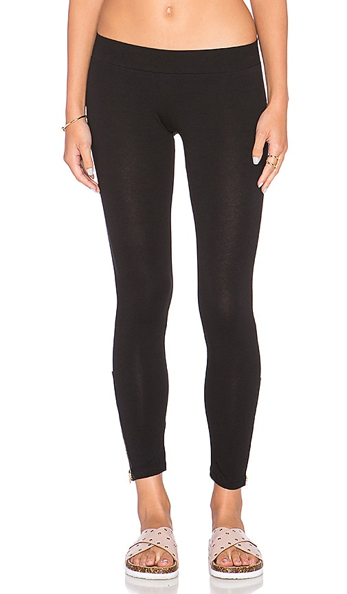 LNA Zipper Legging in Charcoal