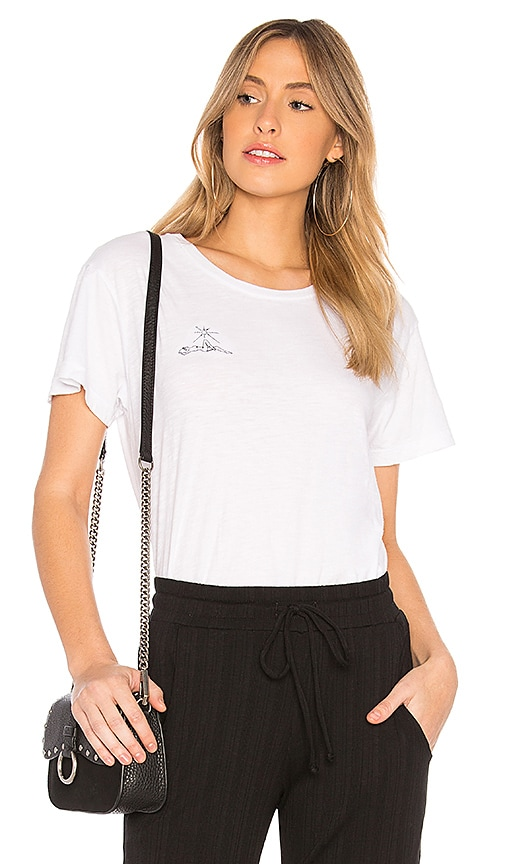 LNA Sun Bask Tee in White