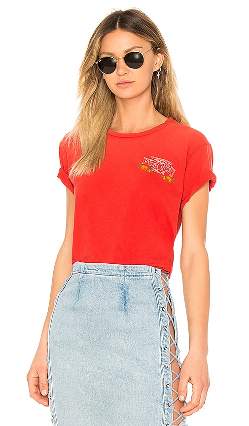 LNA Lonely For You Tee in Red