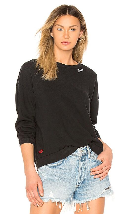 LNA Desir Sweatshirt in Black