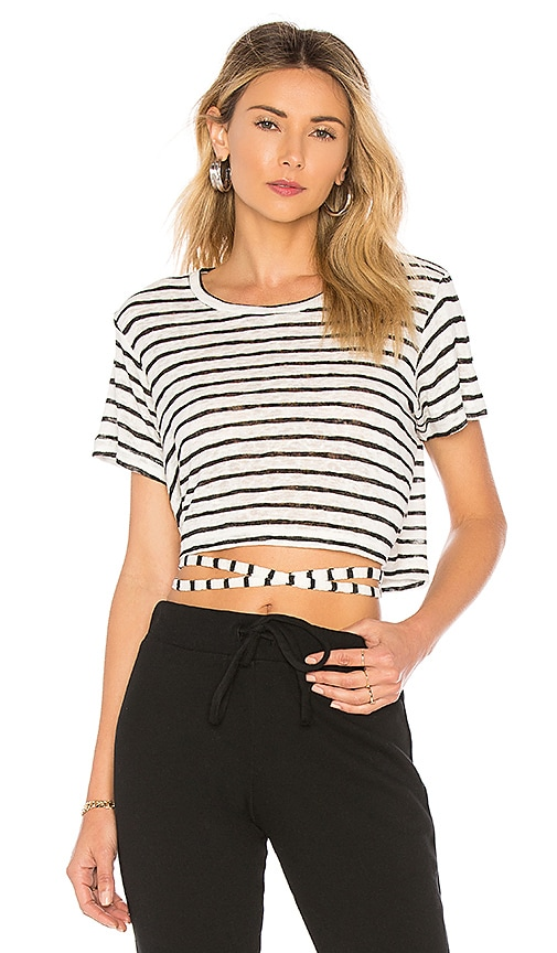 LNA Wrapped Up Tee in Black & White