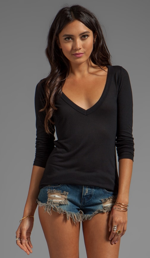 Classic Long Sleeve Deep V