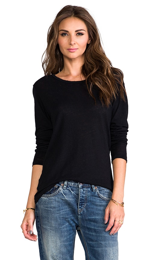 Distressed Long Sleeve Tee