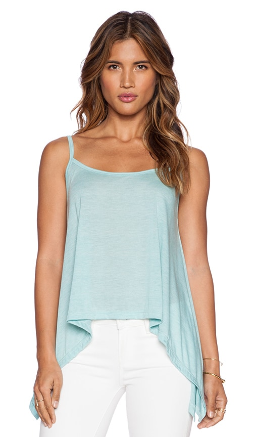 LNA Ribbon Cami Tank in Mint
