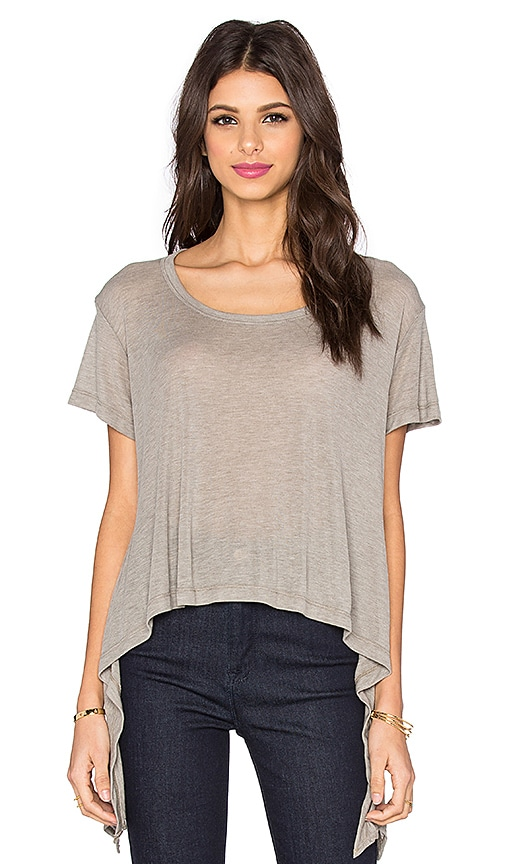 LNA Ribbon Tee in Taupe