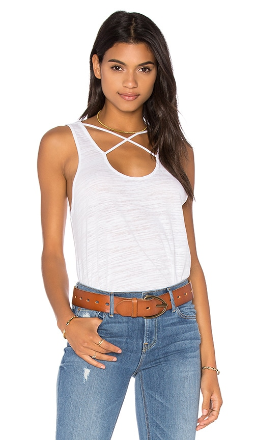 LNA Cross Strap Tank in White