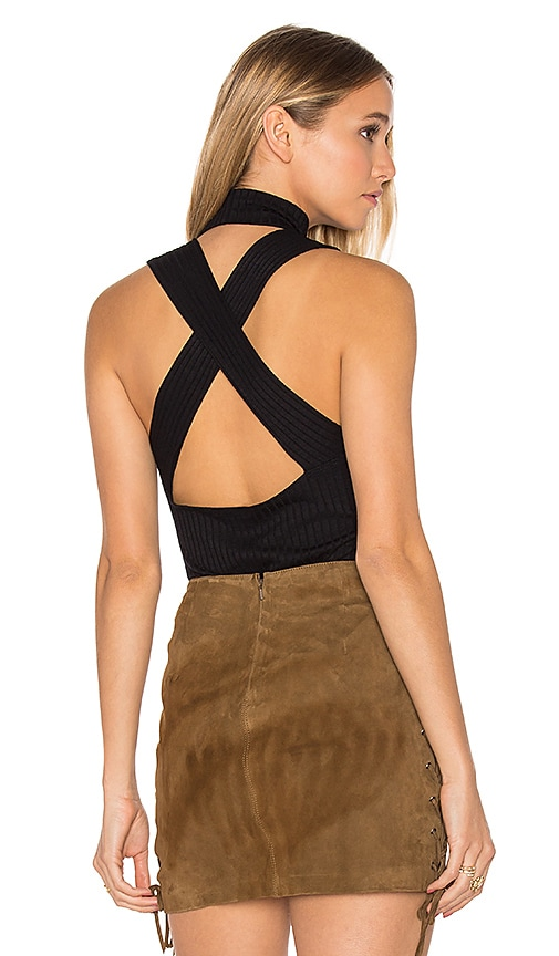LNA Cross Back Element Top in Black