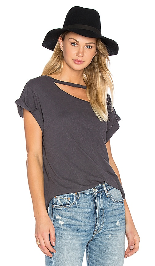 LNA Valley Tee in Charcoal