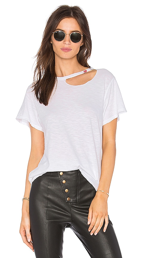 LNA Kissed Tee in White