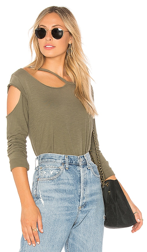 LNA Hamilton Long Sleeve Tee in Olive