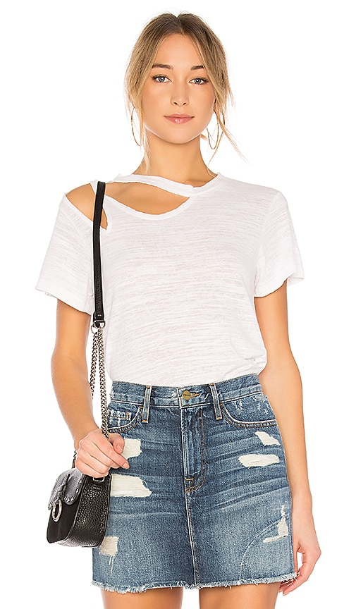 LNA Double Cut Tee in White