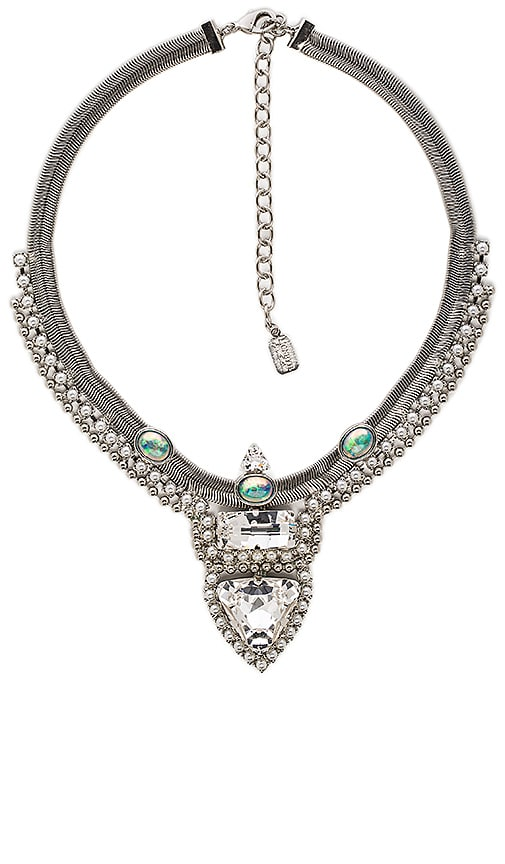 Lionette by Noa Sade Provence Necklace in Rhodium & White