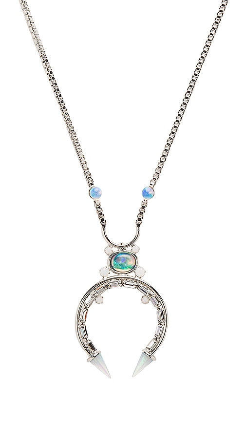 Lionette by Noa Sade Sebastian Necklace in Rhodium & White