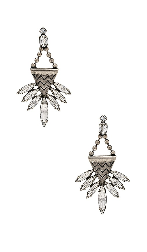 Lionette by Noa Sade Swarovski Crystal Stellan Earrings in Metallic Silver