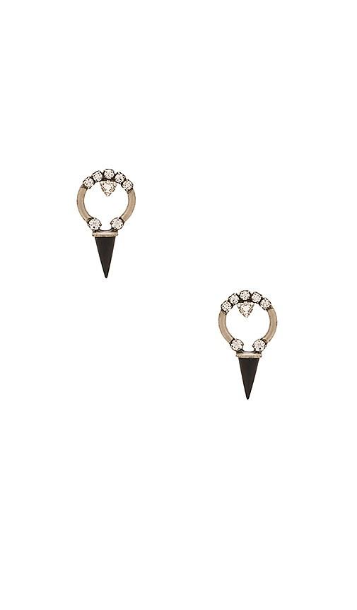 Lionette by Noa Sade Swarovski Crystal Alma Earrings in Black