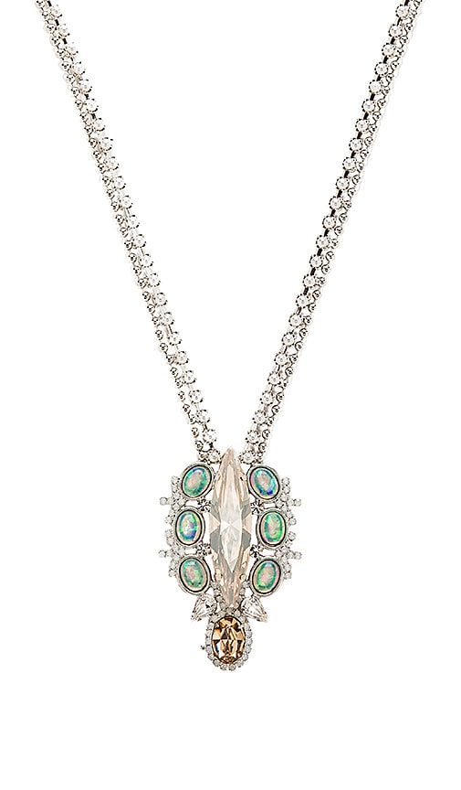 Lionette by Noa Sade Juliette Necklace in Rhodium & Topaz