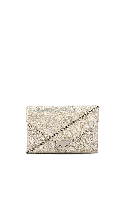 Loeffler Randall Lock Clutch in Silver